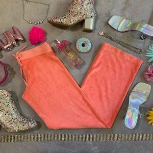 Juicy Couture Velour Peach Pink Track Pants